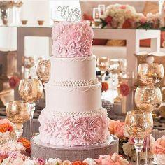 Pretty pink wedding cake  Photo by @judahavenue  #weddings #weddinginspiration #idonigeria #cakes