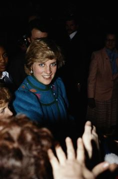 January 23, 1982: Princess Diana meeting the crowds at the Dick Sheppard School in Tulse Hill, Brixton. Flickr