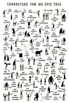 Personagens para um conto épico
