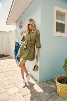 Chloe Sevigny poses with Jimmy Choo Miami Sneakers, Lockett Petite and Andie Sunglasses