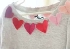 My 3 year old daughter wants nothing but hearts on her shirts. This is a great idea that anyone can do ....