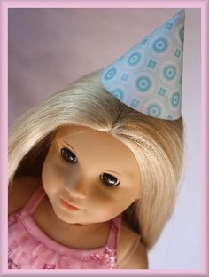 Make American girl party hats... 6 free printables.  only first 3 come through the second page is all messed up
