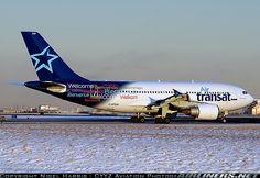 Photo taken at Toronto - Lester B. Pearson International (Malton) (YYZ / CYYZ) in Ontario, Canada on January Air Transat, Canada Ontario, Air Lines, Aircraft Pictures, Toronto, Aviation, January, Travel, Air Ride