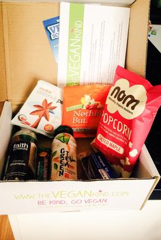 My first @thevegankind box @inspiralled @DrinkTg @Designed2Eat @FaithInNature @creativenature @Nothingbutsnack #vegan