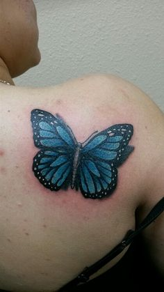 Monarch butterfly tattoo and forget me not flower in for Wicked ways tattoo