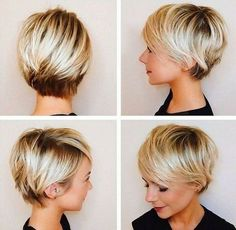 35 Pretty Pixie Haircuts for Thick Hair in Are ladies' pixie cuts in for Definitely! The short pixie haircut is as yet hot and getting one is the ideal method to emerge from the group. Re…, Pixie Haircuts Bob Haircuts For Women, Short Pixie Haircuts, Short Hairstyles For Women, Long Pixie Hairstyles, Hairstyle Short, Trending Hairstyles, Ponytail Hairstyles, Short Hair Cuts For Women Thin, Hairstyle Ideas