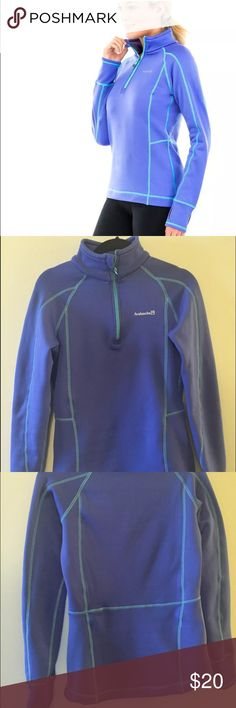 AVALANCHE MUGUL Quarter Zip Fleece Hiking Shirt S AVALANCHE MUGUL Quarter Zip Fleece Hiking Shirt. Size Small. Super warm shirt with thumb holes for comfort. High low style. In great condition from a smoke and pet free home. Avalanche Tops Sweatshirts & Hoodies