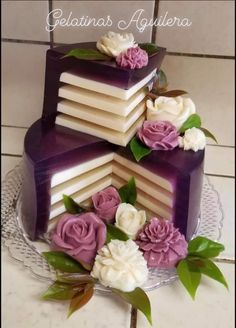 Jello Desserts, Jello Recipes, Fancy Desserts, Crazy Cakes, Fancy Cakes, Pretty Cakes, Beautiful Cakes, 3d Jelly Cake, Cake Decorating Frosting