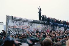 "jarrodis: "" Eric Bouvet, The Fall of the Berlin Wall, 1989 """