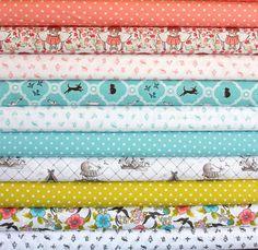 (Please repin for me) Maman ORGANIC fat-quarter bundle--10 pieces (2-1/2 yards total), Cloud 9 Fabrics. $41.25, via Etsy.