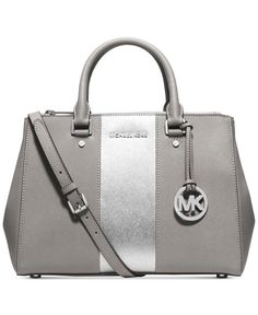 Mix and match a MICHAEL Michael Kors handbag, wallet and pom charm to create her perfect holiday gift. - leather wallet purse, bags and purses, designer leather handbags on sale *ad Carteras Michael Kors, Sac Michael Kors, Cheap Michael Kors, Handbags Michael Kors, Satchel Handbags, Purses And Handbags, Cheap Handbags, Satchel Bag, Ladies Handbags