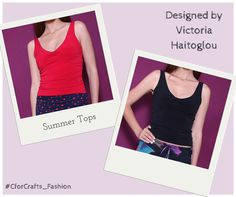 So many colours to choose from! Unique style be Victoria Haitoglou! Summer Tops, Victoria, Colours, Crop Tops, Unique, Design, Women, Style, Fashion