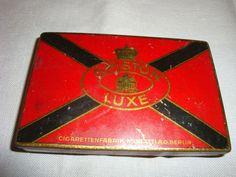 Vintage Ariston Luxe Cigarette Tin Muratti A.G. Berlin Red