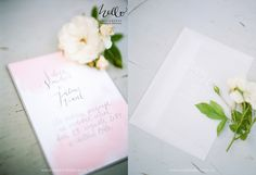 invitation with ghost-envelope by HELLO calligraphy .Małgosia Małecka.  photo by Inspired by love