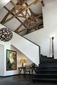 Love the mix of rustic and modern.