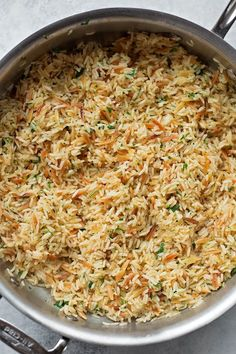 Perfect Rice Pilaf - Dinner this week - Rice Recipes Easy Rice Pilaf, Brown Rice Pilaf, Greek Rice Pilaf, Rice Pilaf With Orzo, Quinoa Pilaf, Easy Rice Recipes, Side Dish Recipes, Healthy Recipes, Seasoned Rice Recipes
