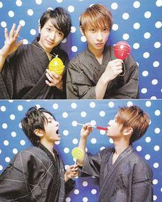 """Nếu được sinh ra là một trong những thành viên còn lại, bạn sẽ chọn ai?- """"Tôi sẽ chọn Nishijima-kun (cười) Vì tôi muốn biết cách nào để có thể làm những khuôn mặt quái dị đó."""" - Atae Shinjiro (From Sak's fb) Thực sự khi đọc thì m 'phụt""""."""