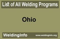 Browse all Welding Programs in Ohio, the United States. Welding Programs, Programming, Ohio, United States, The Unit, Columbus Ohio, Computer Programming, Coding