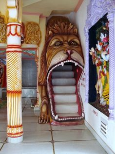 Cool staircase... But kinda scary too....