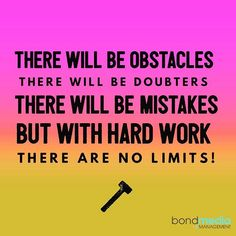 Life Quote: With Hard Work, There are No Limits!  For more......... follow me on Instagram xx