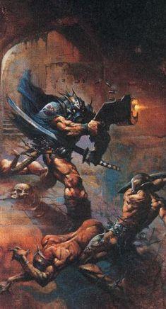 Simon Bisley Simon Bisley, Mutant Chronicles, Heavy Metal Art, 70s Sci Fi Art, Techno, Sword And Sorcery, Science Fiction Art, Fantasy Warrior, Fantasy Illustration