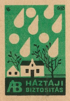 hungarian matchbox label