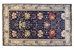 "George Bashian | 5'x8'2"" Multan Rug, Dark Blue 