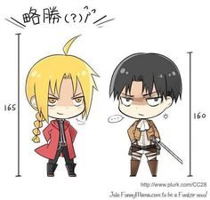 Edward (Fullmetal Alchemist) and Rivaille (Attack on Titan/Shingeki no Kyojin)