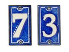 "French-style+blue+4+1/4""-tall+ceramic+house+numbers,+$19+each,+rejuvenation.com"