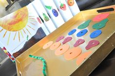 very hungry caterpillar lacing activity. Great idea!
