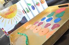 The Great Green Room: Montessori Monday: Caterpillar Lacing Activity