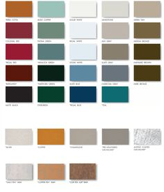 Sheffield Metals Color Swatches Image | Metal Roof | Pinterest | Metal Roof,  Sheffield And Metal Panels