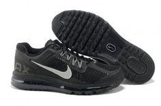 8f42b9b4c903 Nike Air Max 2013 Mens Black Silver Running Shoes Nike Max