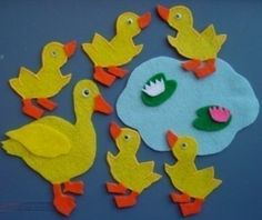 5 Little Ducks Felt Story