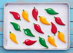 How to Decorate Chili Pepper Cookies with Royal Icing via www.thebearfootbaker.com