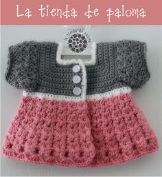Crochet baby girl cardigan  Crochet baby sweater  by palomapch
