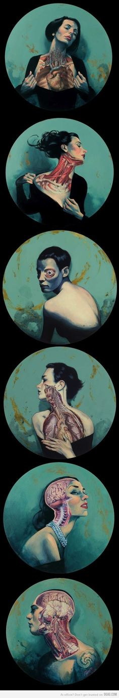 Human Anatomy by Fernando Vicente-- this is kind of like what im doing for my ap art concentration Kunst Inspo, Art Inspo, Painting Inspiration, Art And Illustration, Psychedelic Art, Anatomy Art, Human Anatomy, A Level Art, Arte Horror