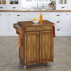 Home Styles Oak Finish Oak Top Cuisine Cart