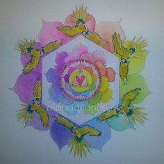watercolor Mandala, Watercolor, Pen And Wash, Watercolor Painting, Watercolour, Watercolors, Mandalas, Watercolour Paintings