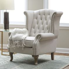 Belham Living Tatum Tufted Arm Chair with Nailheads - Accent ...
