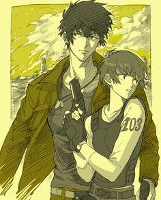 Tsunemori Akane y Kougami Shinya [pixiv]