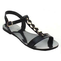 Miim Women's Icon-02 Jelly Rhinestone T-Strap Sandals