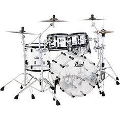Pearl Crystal Beat 4-Piece Shell Pack Ultra Clear Black H…