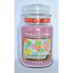 Bougie parfumée Grande Jarre SALT WATER TAFFY Yankee Candle large jar exclu US USA
