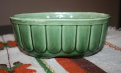 Vintage Brush Pottery Avocado Green Planter by AstridsPastTimes