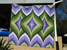 """January 4 - Featured Quilts on 24 Blocks Argyle Quilt made by Charlene Bailey"""""""