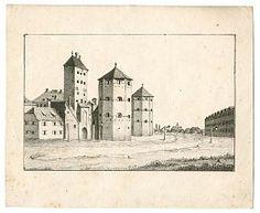 München : Isartor - Lithographie, wohl um1820 im Alte Stiche Joseph Steutzger