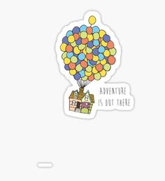 Adventure Is Out There Stickers Stickers Cool, Tumblr Stickers, Phone Stickers, Printable Stickers, Planner Stickers, Vsco, Homemade Stickers, Aesthetic Stickers, Cute Disney