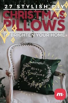 Pillows make every room look good and I can never have too many of them in my home. During the holiday I enjoy making them and even giving them as gifts. We put together a list of 27 DIY Christmas pillows that are sure to make your home look great. You can put a touch or your own style and read how to make an easy no sew pillow or how to paint one. #pillows #Christmas #DIY Christmas Pillow, Diy Christmas, Christmas Decorations, Holiday, Sewing Pillows, Home Look, Merry, Touch, Throw Pillows