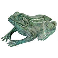 Design Toscano Small Bull Frog Cast Bronze Garden Statue - PN5791